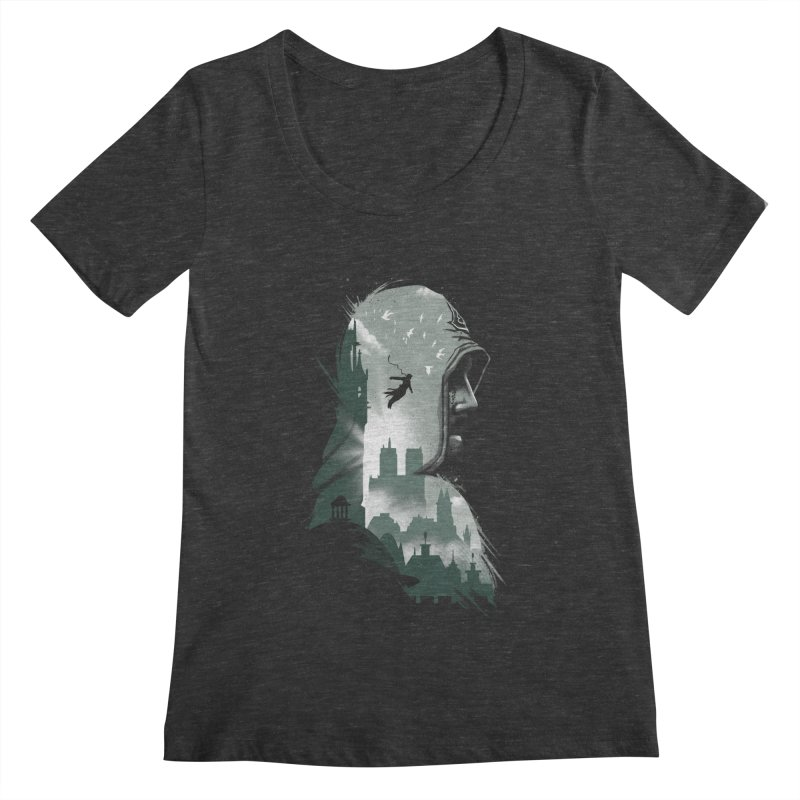Assassin's Flight Women's Scoopneck by vincenttrinidad's Artist Shop