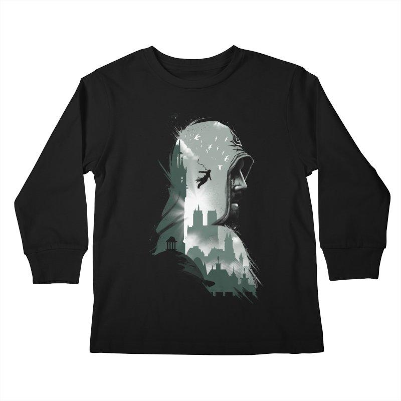 Assassin's Flight Kids Longsleeve T-Shirt by vincenttrinidad's Artist Shop
