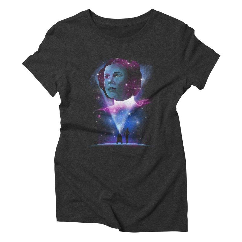 Galactic Princess Women's Triblend T-shirt by vincenttrinidad's Artist Shop
