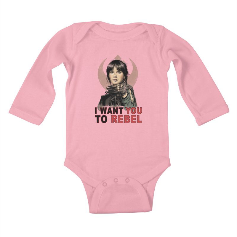 I Want You To Rebel Kids Baby Longsleeve Bodysuit by vincenttrinidad's Artist Shop
