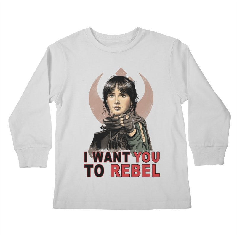 I Want You To Rebel Kids Longsleeve T-Shirt by vincenttrinidad's Artist Shop