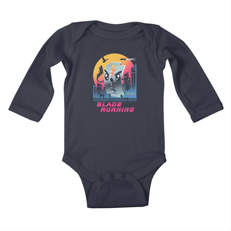 Blade Running Kids Baby Longsleeve Bodysuit by vincenttrinidad's Artist Shop