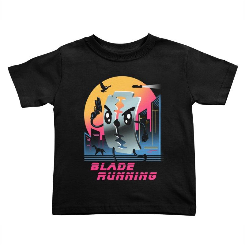 Blade Running Kids Toddler T-Shirt by vincenttrinidad's Artist Shop