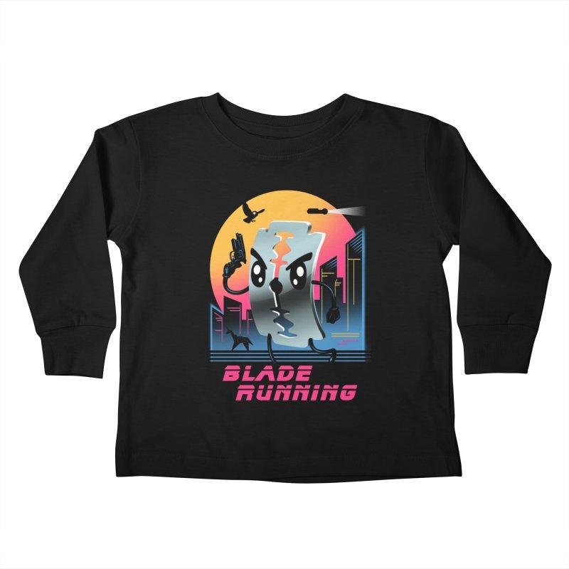 Blade Running Kids Toddler Longsleeve T-Shirt by vincenttrinidad's Artist Shop
