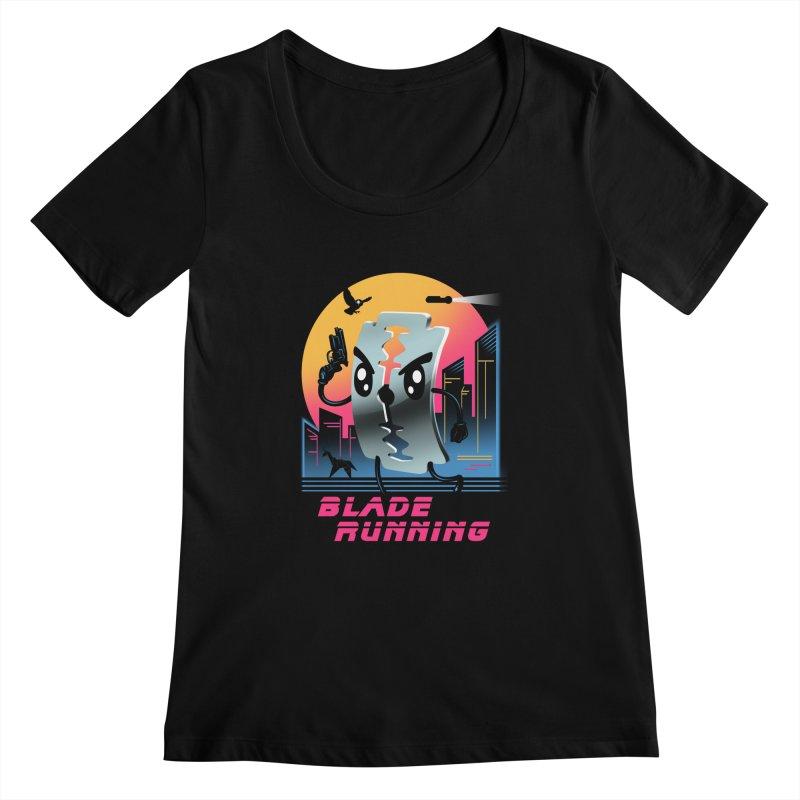 Blade Running Women's Scoopneck by vincenttrinidad's Artist Shop