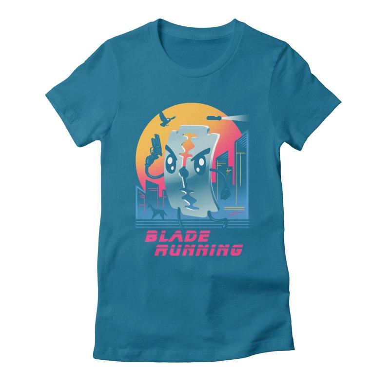 Blade Running Women's Fitted T-Shirt by vincenttrinidad's Artist Shop