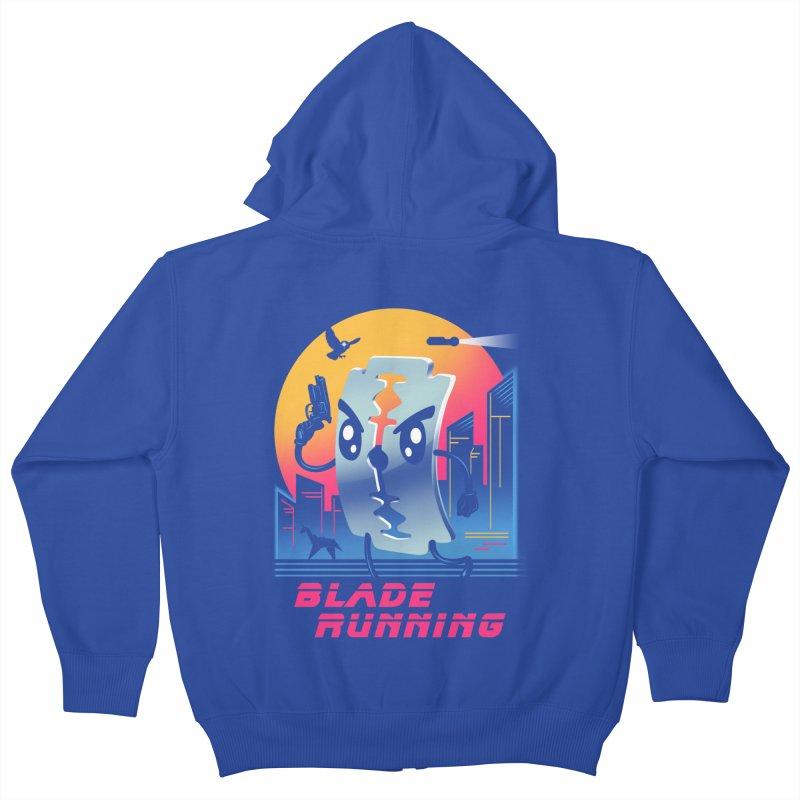 Blade Running Kids Zip-Up Hoody by vincenttrinidad's Artist Shop