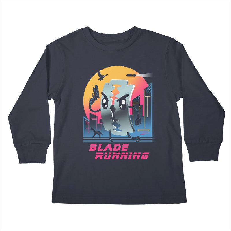 Blade Running Kids Longsleeve T-Shirt by vincenttrinidad's Artist Shop