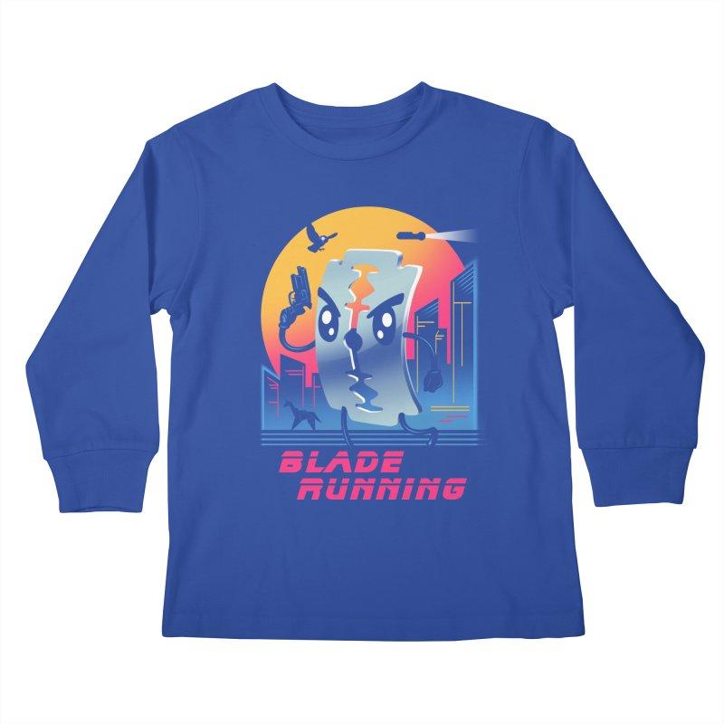 Blade Running Kids Longsleeve T-Shirt by vincenttrinidad's Artist Shop