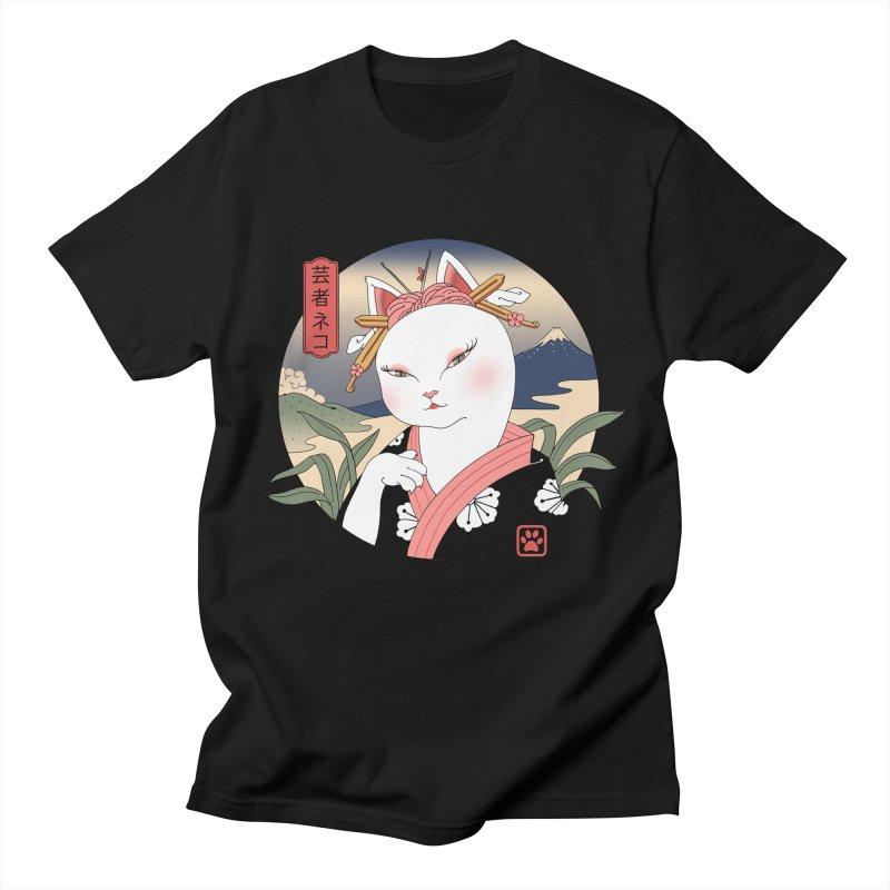 Neko Geisha Men's T-Shirt by Vincent Trinidad Art