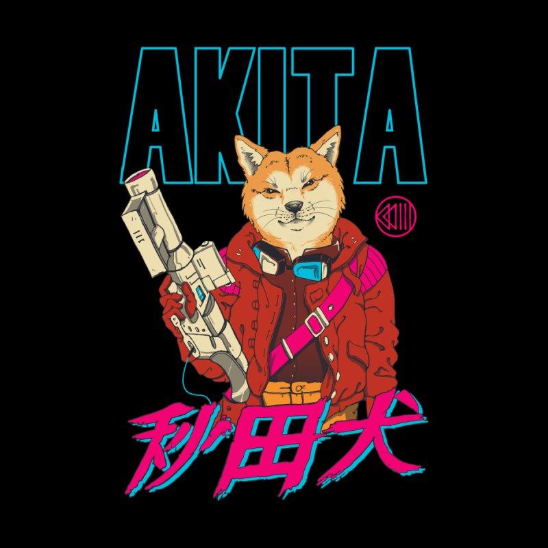 Akita Neo Tokyo Men's T-Shirt by Vincent Trinidad Art
