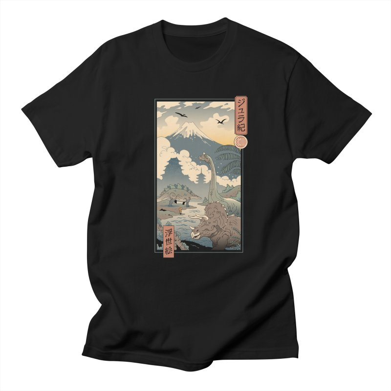 Jurassic Ukiyo-e 1 Men's T-Shirt by Vincent Trinidad Art