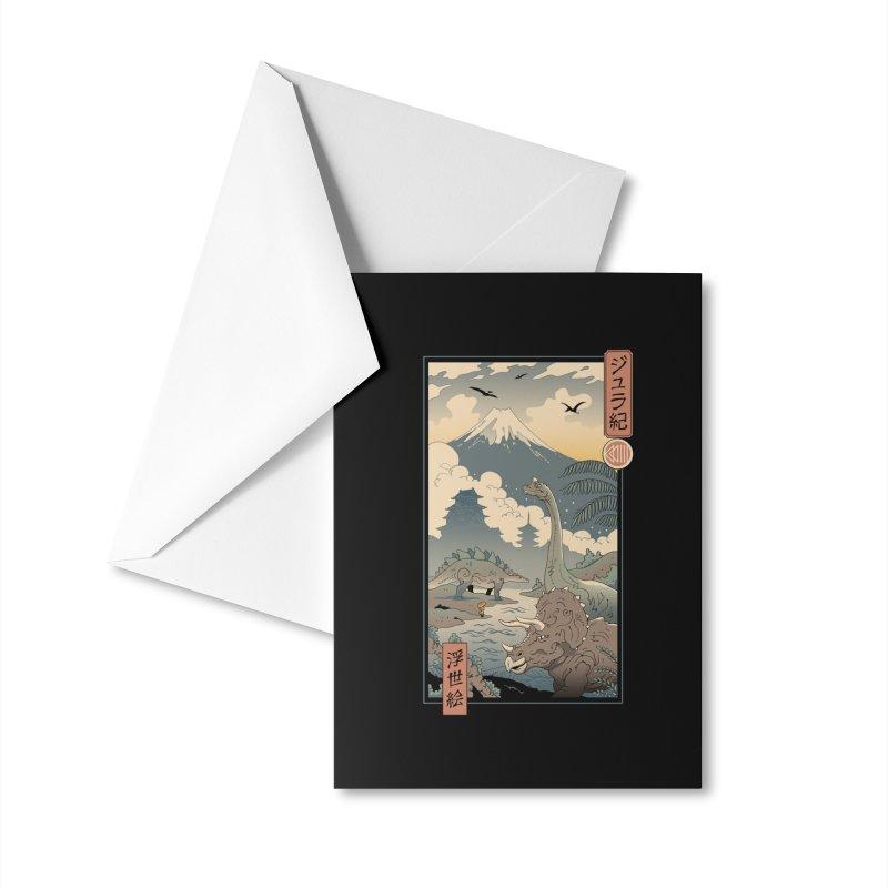 Jurassic Ukiyo-e 1 Accessories Greeting Card by Vincent Trinidad Art