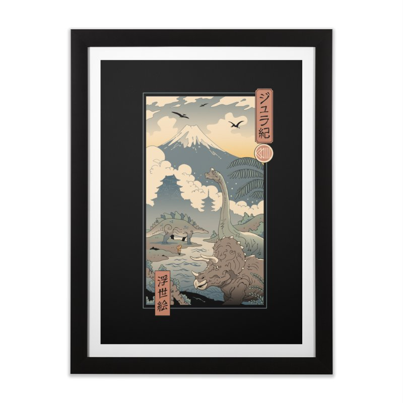 Jurassic Ukiyo-e 1 Home Framed Fine Art Print by Vincent Trinidad Art