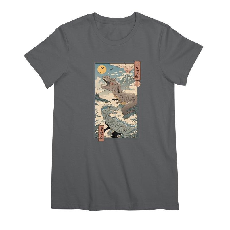 Jurassic Ukiyo-e 2 Women's T-Shirt by Vincent Trinidad Art
