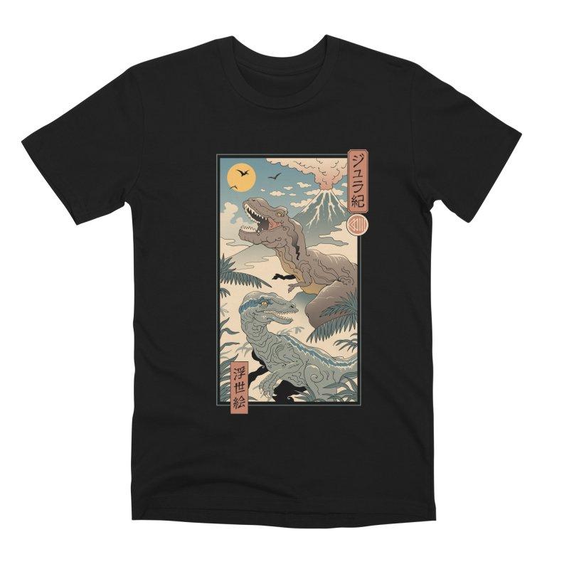 Jurassic Ukiyo-e 2 Men's T-Shirt by Vincent Trinidad Art