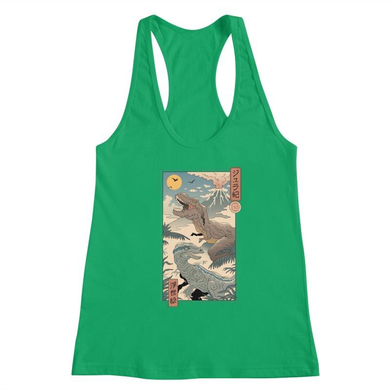 Jurassic Ukiyo-e 2 Women's Tank by Vincent Trinidad Art