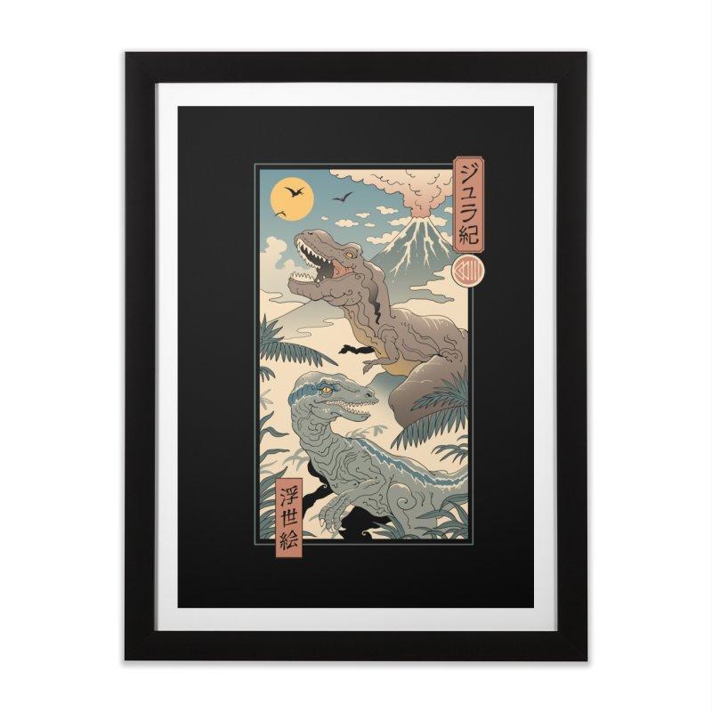 Jurassic Ukiyo-e 2 Home Framed Fine Art Print by Vincent Trinidad Art