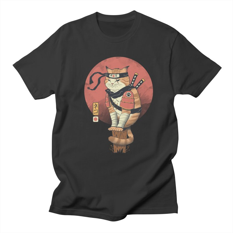 Shinobi Cat Men's T-Shirt by Vincent Trinidad Art