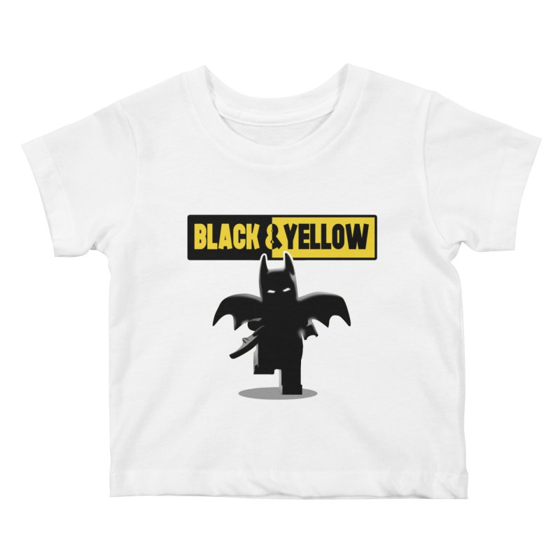 Bat and Yellow Kids Baby T-Shirt by vincenttrinidad's Artist Shop