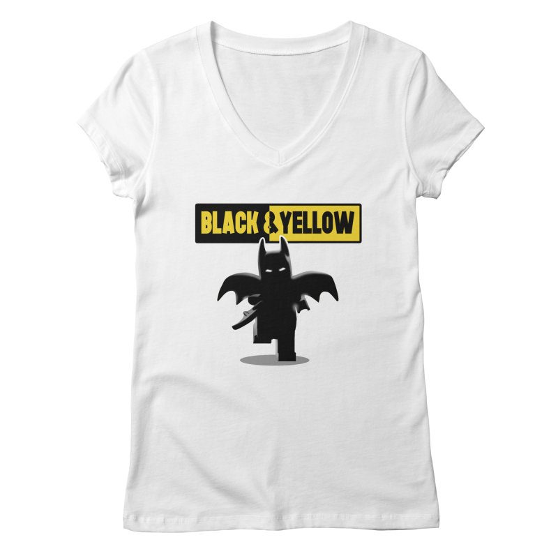 Bat and Yellow Women's V-Neck by vincenttrinidad's Artist Shop