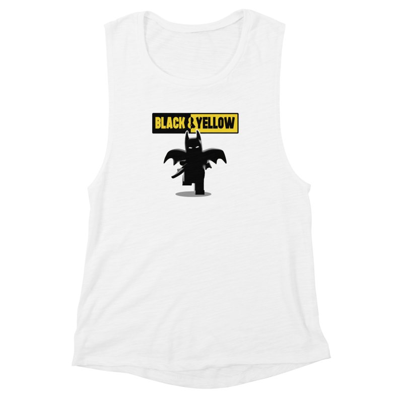 Bat and Yellow Women's Muscle Tank by vincenttrinidad's Artist Shop