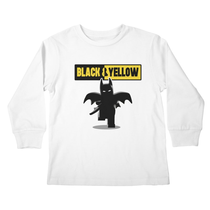 Bat and Yellow Kids Longsleeve T-Shirt by vincenttrinidad's Artist Shop