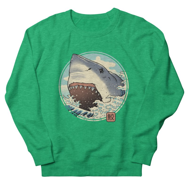 Shark Attack! Women's Sweatshirt by Vincent Trinidad Art