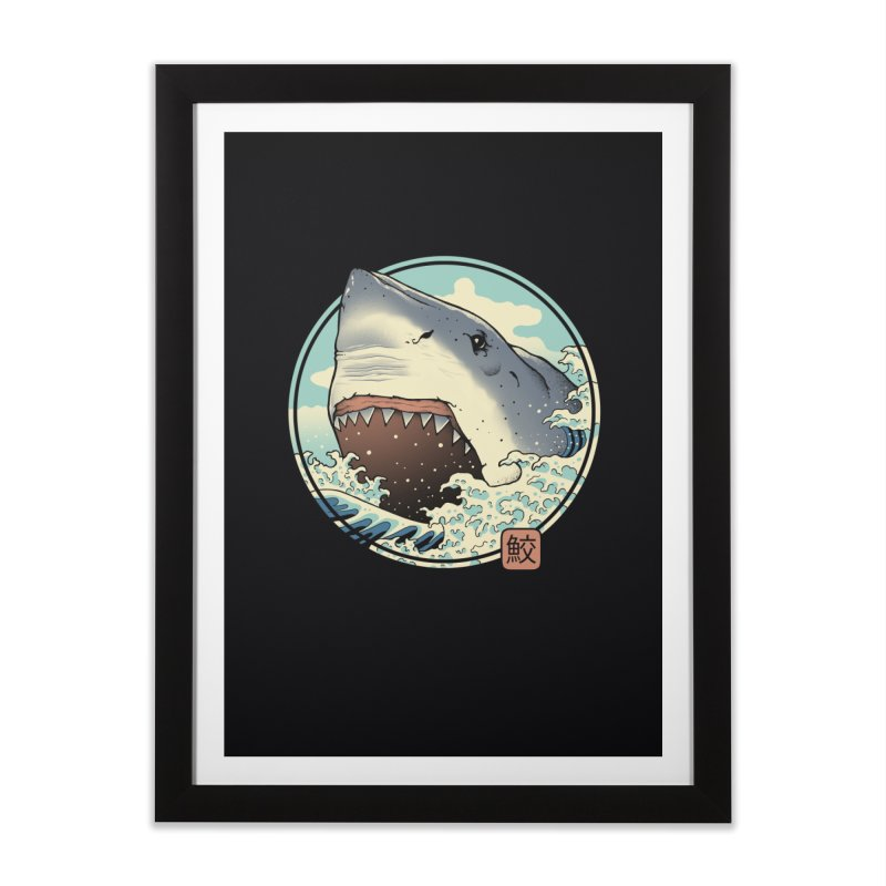 Shark Attack! Home Framed Fine Art Print by Vincent Trinidad Art
