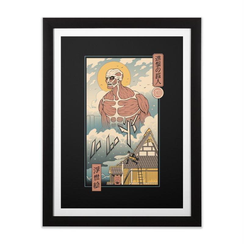 Titan In Edo Home Framed Fine Art Print by Vincent Trinidad Art