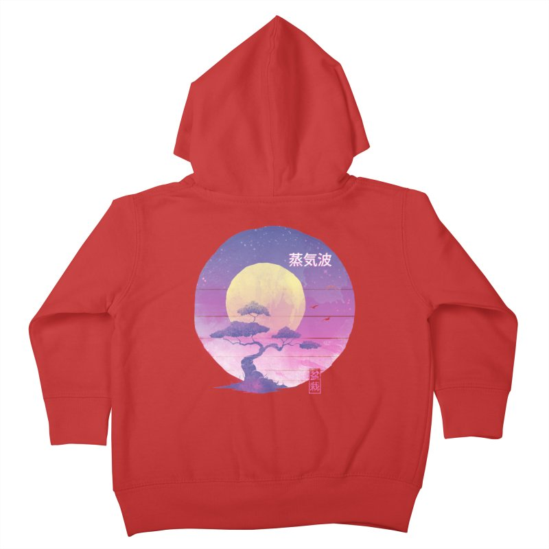 Bonsai Wave Kids Toddler Zip-Up Hoody by Vincent Trinidad Art