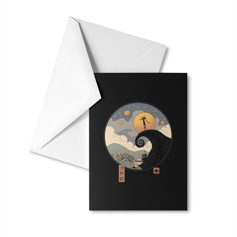 Nightmare in Edo Accessories Greeting Card by Vincent Trinidad Art