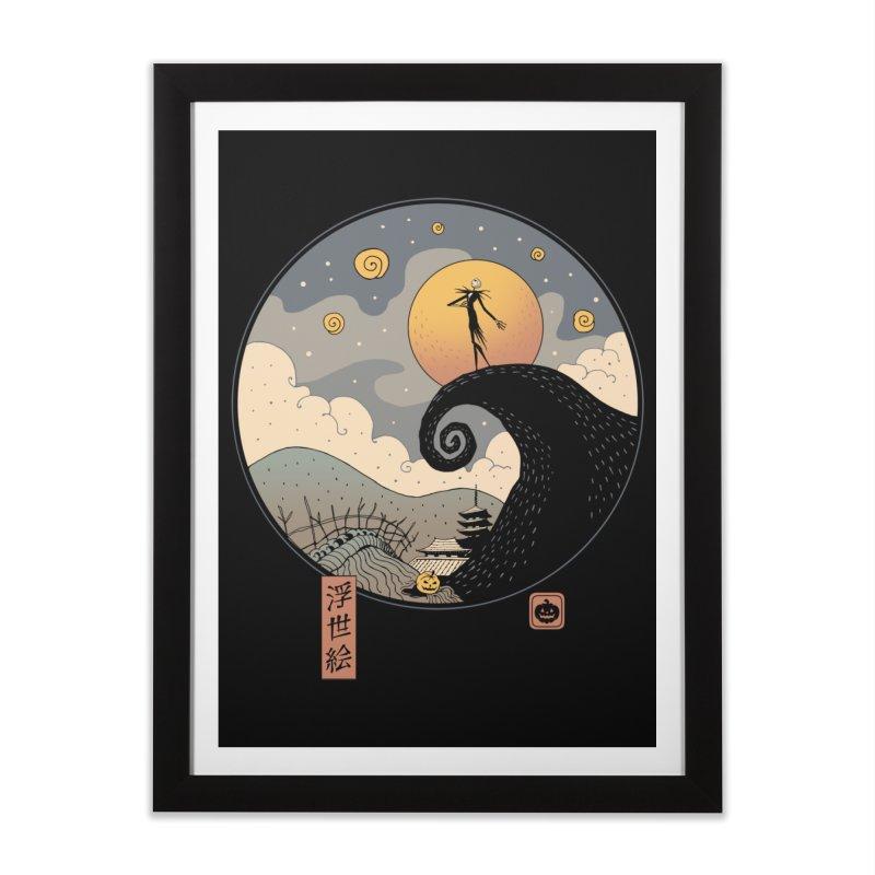 Nightmare in Edo Home Framed Fine Art Print by Vincent Trinidad Art