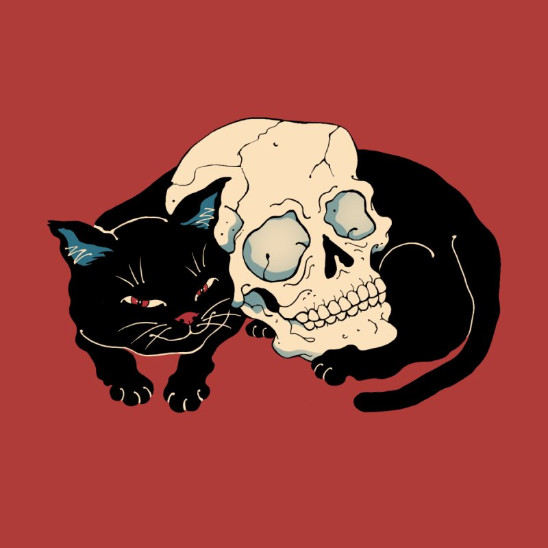 Neko Skull Home Framed Fine Art Print by Vincent Trinidad Art