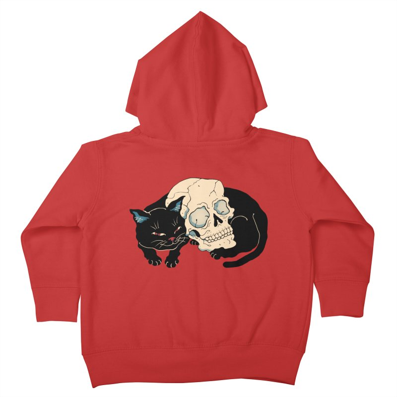 Neko Skull Kids Toddler Zip-Up Hoody by Vincent Trinidad Art