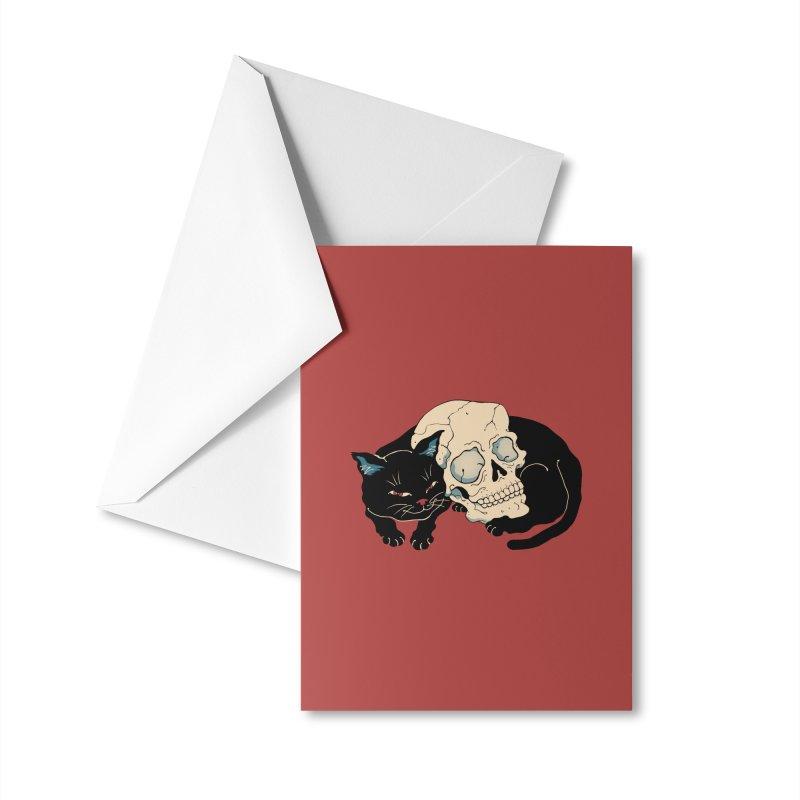 Neko Skull Accessories Greeting Card by Vincent Trinidad Art