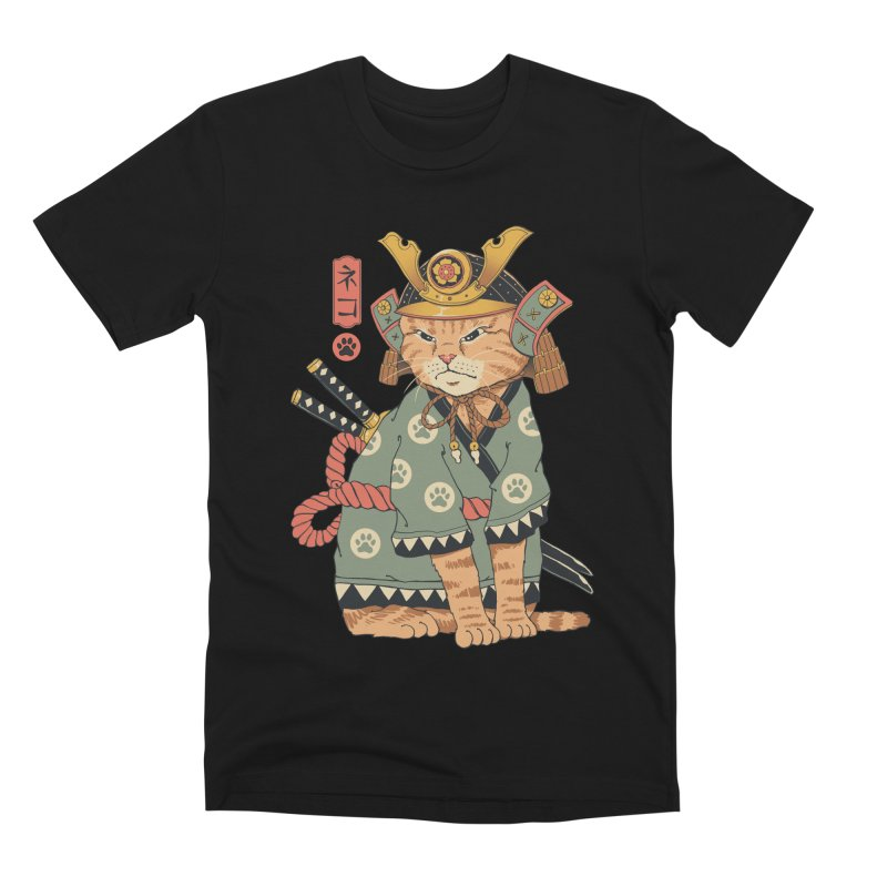 Neko Samurai Men's T-Shirt by Vincent Trinidad Art
