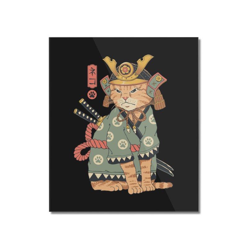 Neko Samurai Home Mounted Acrylic Print by Vincent Trinidad Art