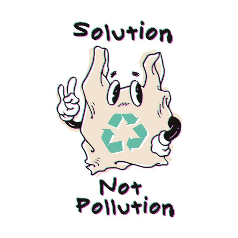 Solution Not Pollution Men's T-Shirt by Vincent Trinidad Art