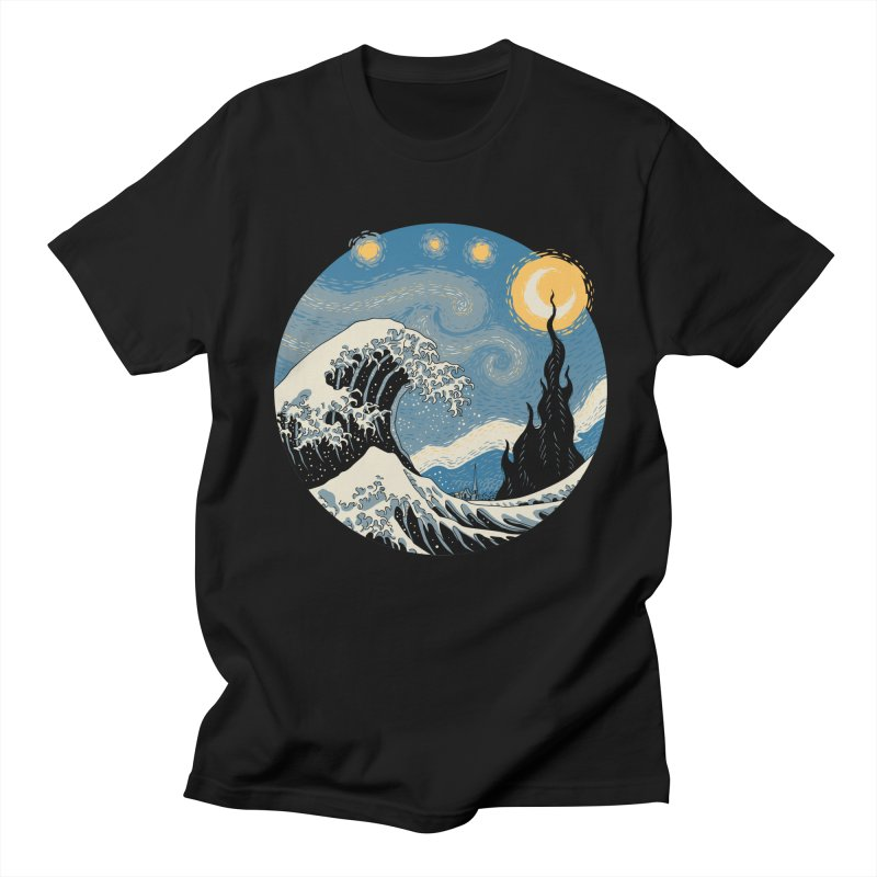 The Great Starry Wave Men's T-Shirt by Vincent Trinidad Art