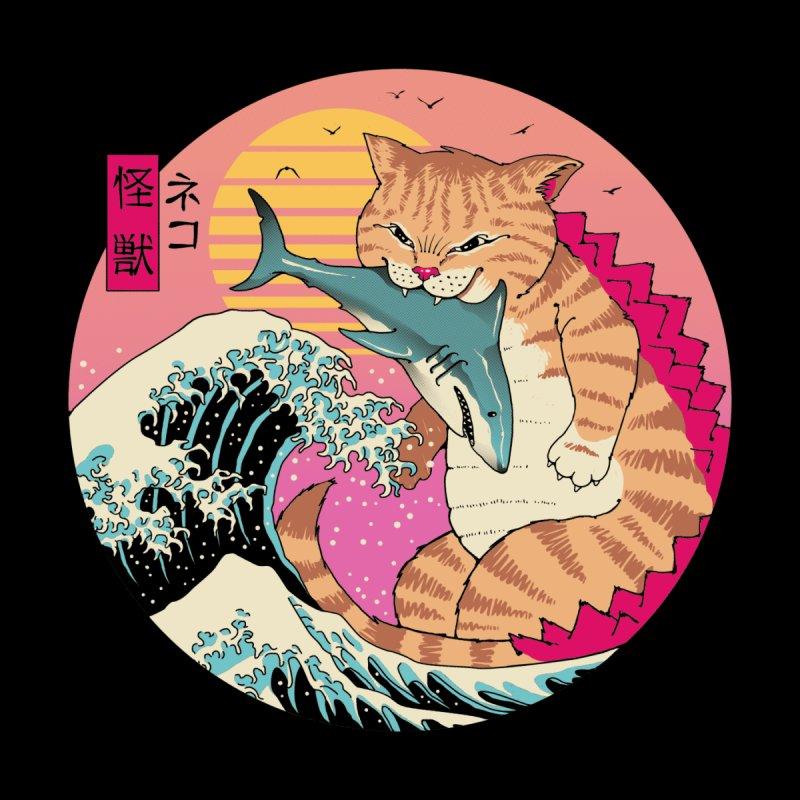 Neko Wave Kaiju Men's T-Shirt by Vincent Trinidad Art