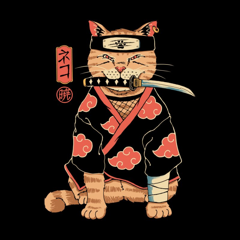 A Cat Suki Men's T-Shirt by Vincent Trinidad Art