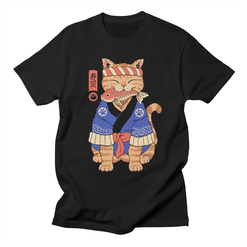 Sushi Meowster Men's T-Shirt by Vincent Trinidad Art