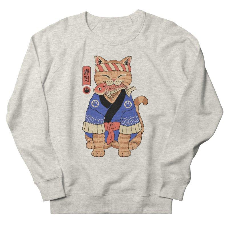 Sushi Meowster Men's Sweatshirt by Vincent Trinidad Art