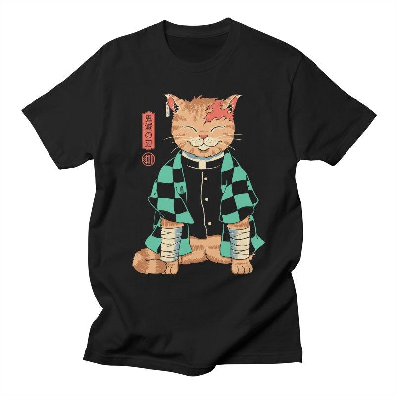 Demon Slayer Cat Men's T-Shirt by Vincent Trinidad Art