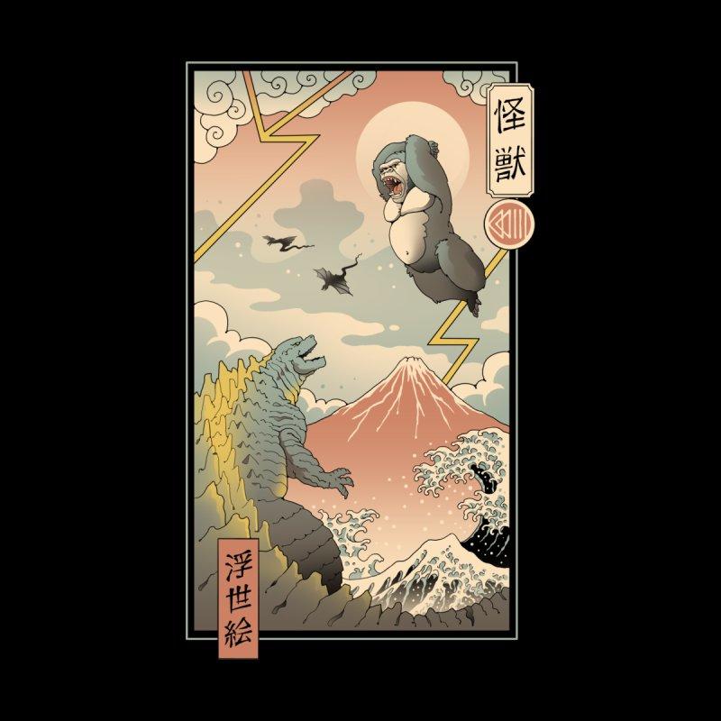Kaiju Fight in Edo Men's Longsleeve T-Shirt by Vincent Trinidad Art