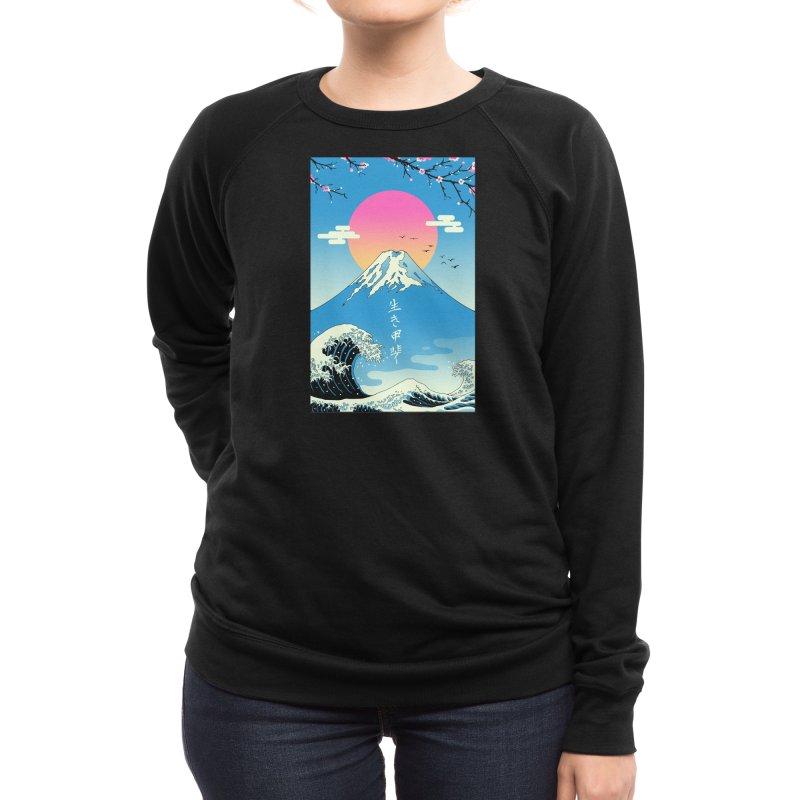 Ikigai Women's Sweatshirt by Vincent Trinidad Art