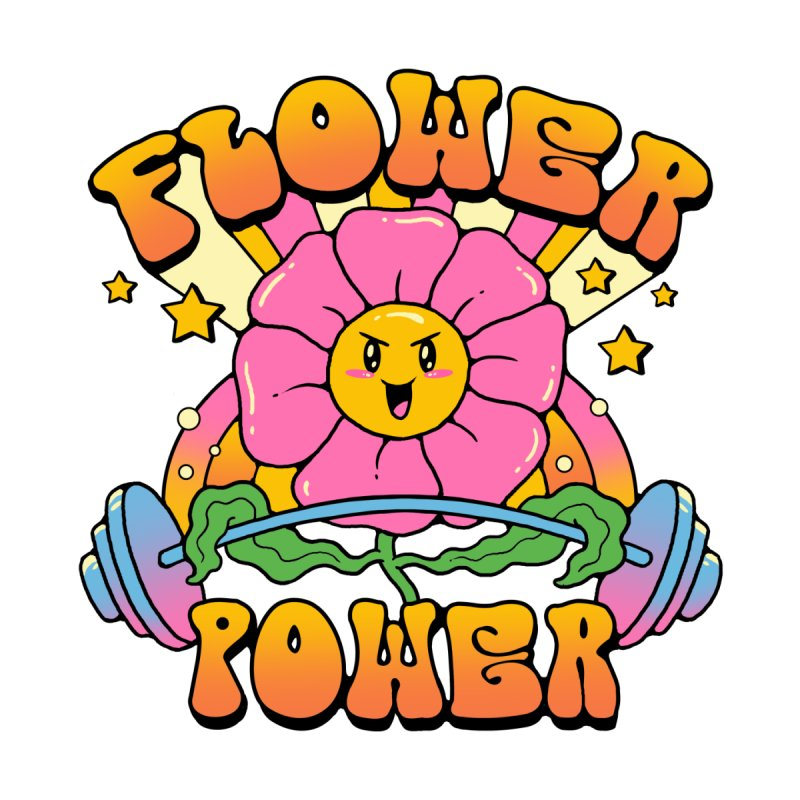 Flower Power Men's Longsleeve T-Shirt by Vincent Trinidad Art