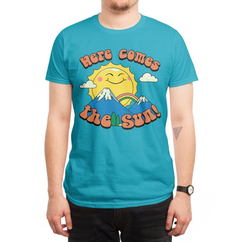 Here Comes the Sun! Men's T-Shirt by Vincent Trinidad Art