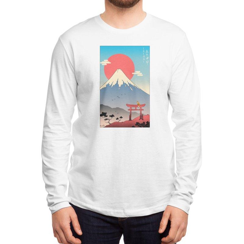 Ikigai in Mt. Fuji Men's Longsleeve T-Shirt by Vincent Trinidad Art